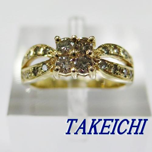 K18YG★リング ダイヤモンド0.41ct◇11号【中古】/10020258
