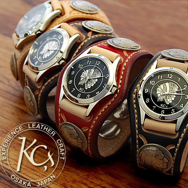 ケーシーズ KC'S ケイシイズ ケイシーズ kc,s kcs 3コンチョ ウォッチブレス スタンプツー /牛革腕時計 送料無料 メンズ 革 レザー レディース smtb-tk 本革