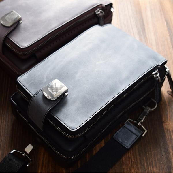 ボディバッグ【送料無料】LANZA(ランザ)人気 ブランド ブライドルレザー ショルダーバッグ メンズ ビジネス カジュアル  鞄 カバン かばん バッグ B-010