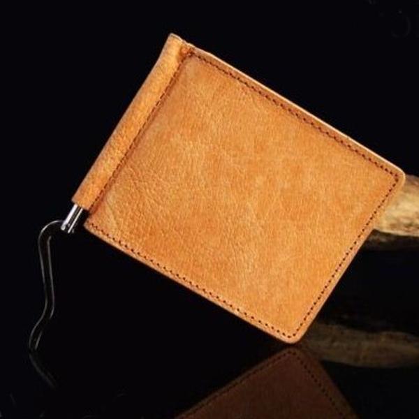 価格 交渉 時間指定不可 送料無料 マネークリップ 本革 メンズ 財布 オールバッファロー レザーマネークリップ さいふ サイフ クリスマス ギフト キャメル かっこいい 小さい財布 プレゼント 小さい おしゃれ