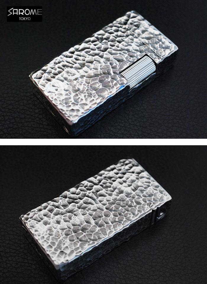 【送料無料】SAROME サロメ メンズ レディース ガスライター フリントライター 銀古美 4面ハンマートーン 人気 オシャレ タバコ 煙草 喫煙具 愛煙家 コレクション かわいい ライター 日本製 MADE IN JAPAN バレンタイン