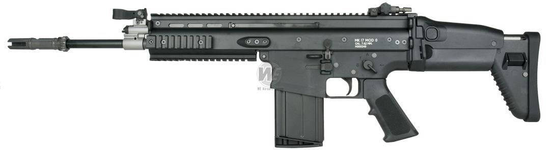 WE ガスブローバック SCAR-H ブラック