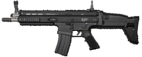 WE ガスブローバック SCAR-L Black