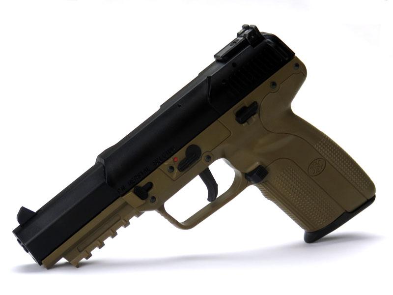 SIDE ARMS マルシン CO2ブローバックガン FN Five-seveN ファイブセブン アルミピストン仕様 フラットダークアース アルミインナースライド組み込み済み