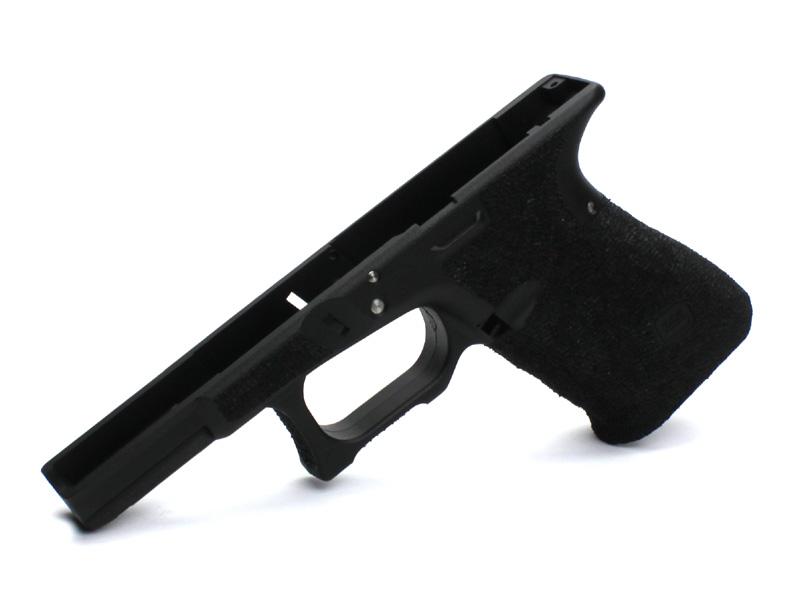 SIDEARMS KJ Glock19用 サリエントアームズスタイル ステッピングフレーム フィンガーチャンネルなしバージョン ブラック