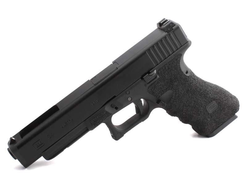 東京マルイ ガスブローバックガン Glock34 SAIタイプステップリングフレームカスタム ブラック