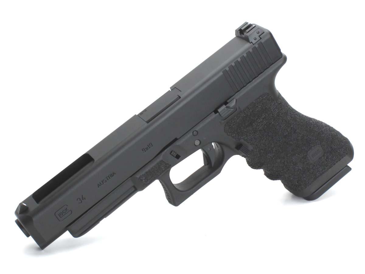 東京マルイ ガスブローバックガン Glock34 TTIタイプステップリングフレームカスタム ブラック