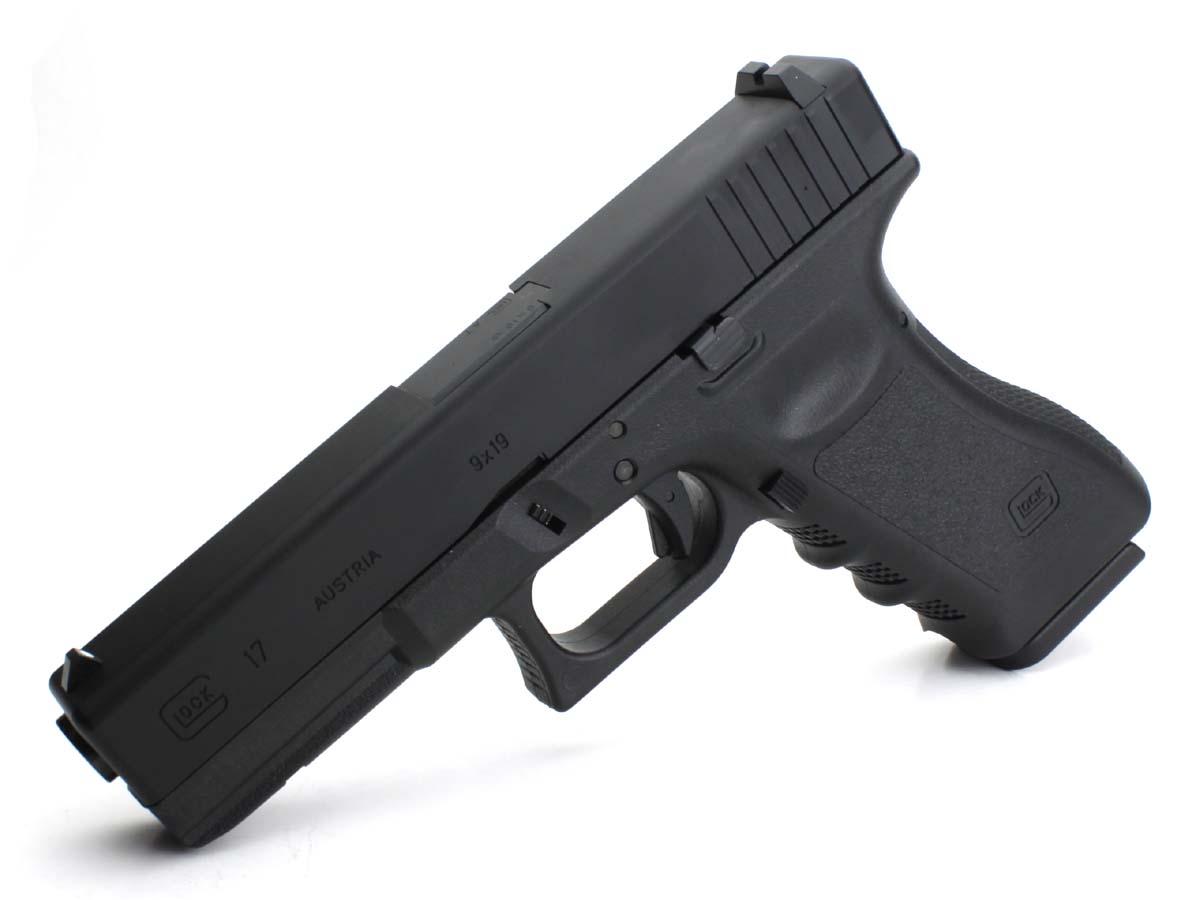 東京マルイ ガスブローバックガン Glock17 アルミスライド、リアルフレームカスタム ブラック