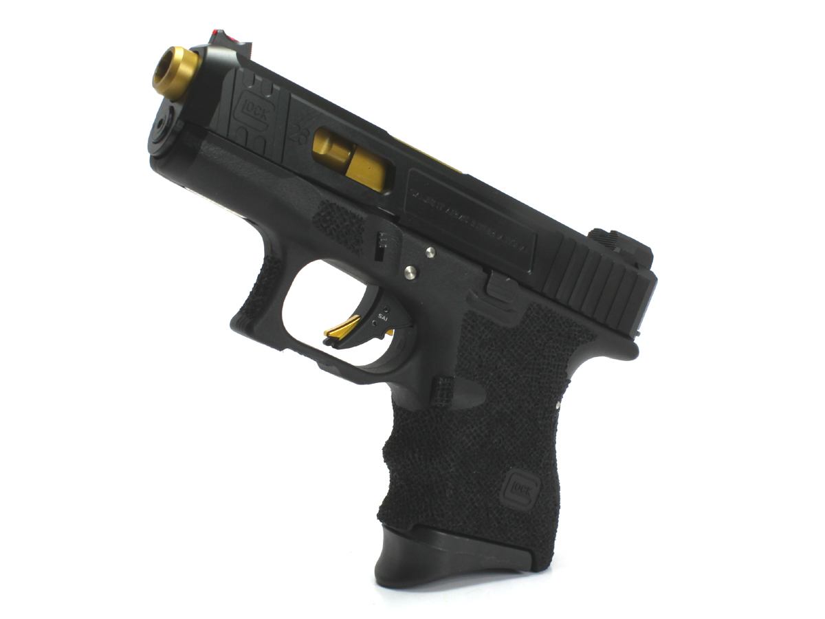 SIDEARMSカスタム 東京マルイ Glock26 SAI ゴールドバレルカスタム