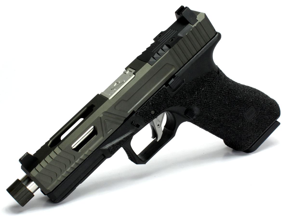 SIDEARMSカスタム 東京マルイ Glock17ベース AgencyArms ハイブリットスペシャルGlock17 Custom バレルシルバー