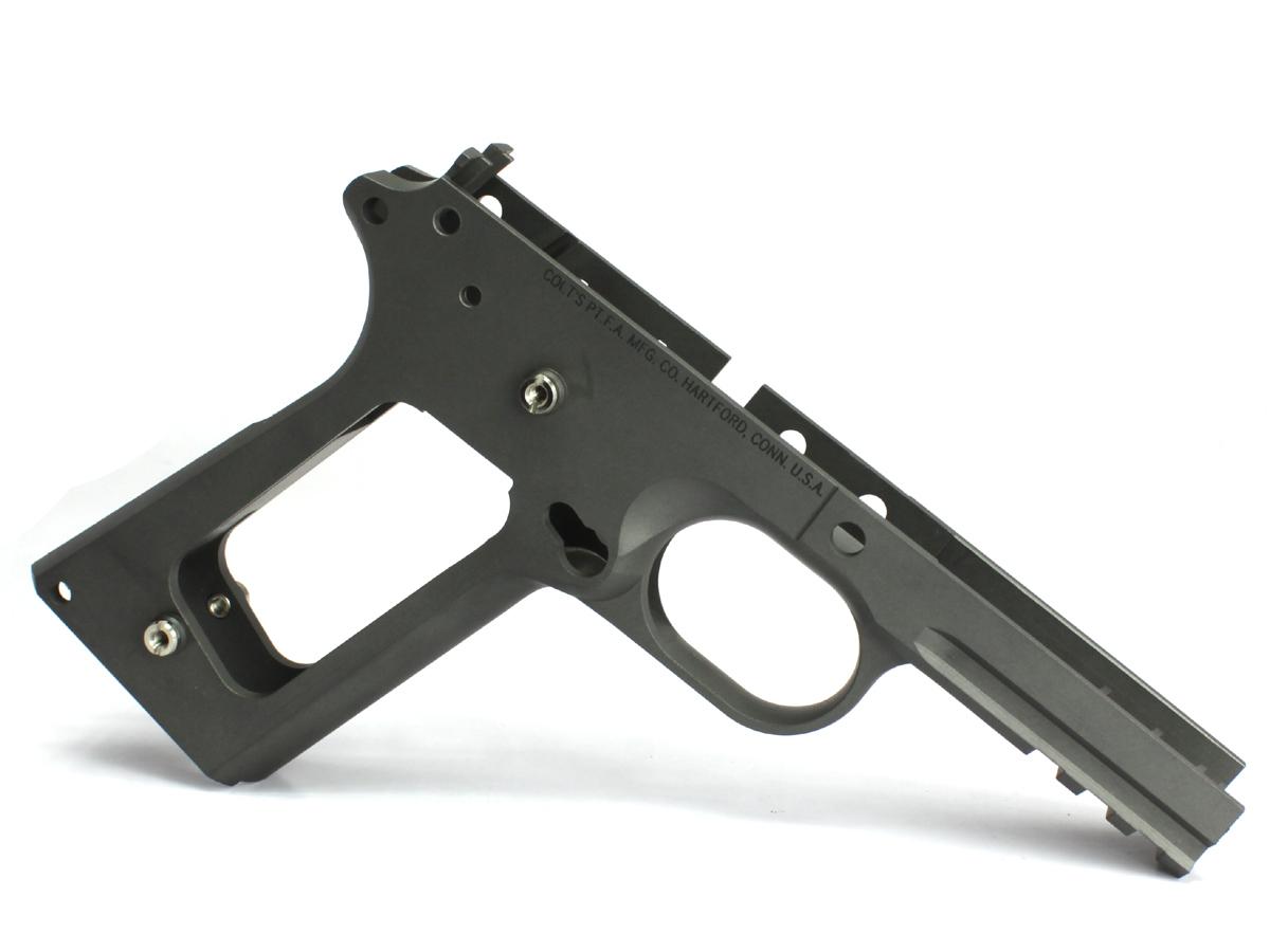 SIDEARMS タニオ・コバレールドフレーム Colt RailGunタイプ刻印入りカスタム チェッカー無し