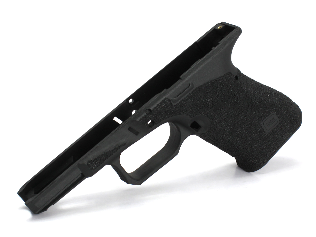 GUARDER カスタムパーツ SIDEARMS GUARDER マルイ Glock19USAリアル刻印フレーム AgencyArmsタイプ スティップリングカスタムフレーム フィンガーチャンネルなし
