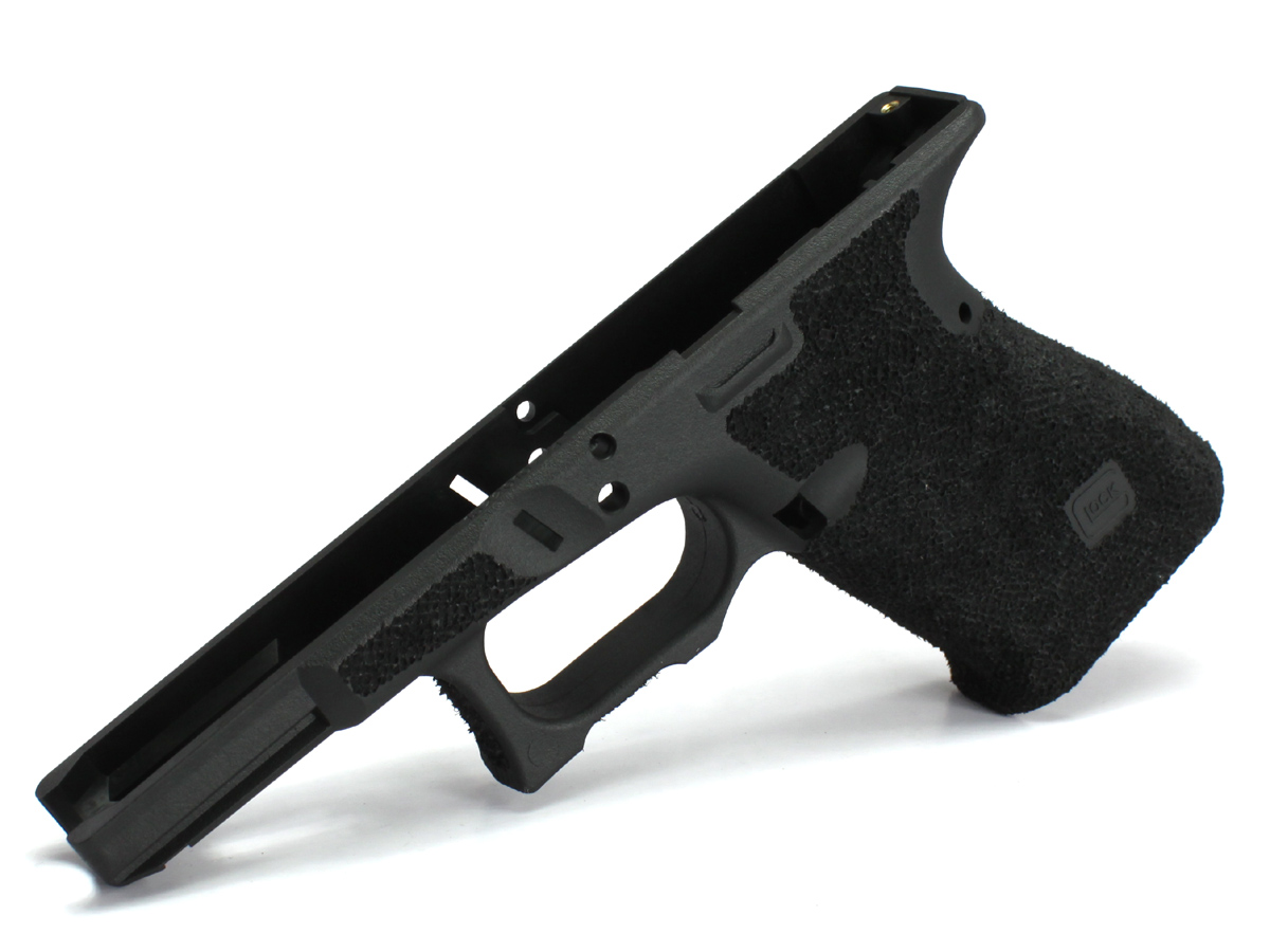 SIDEARMS GUARDER マルイ Glock19USAリアル刻印フレーム SAIタイプ スティップリングカスタムフレーム フィンガーチャンネルなし