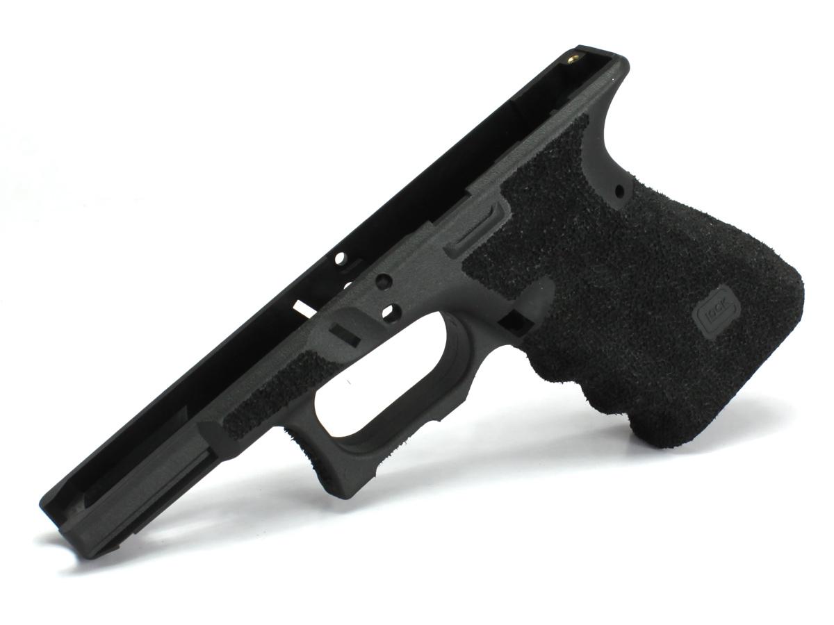 SIDEARMS GUARDER マルイ Glock19USAリアル刻印フレーム SAIタイプ スティップリングカスタムフレーム フィンガーチャンネルあり