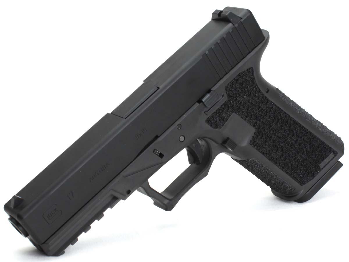 サイドアームズカスタム 東京マルイ ガスブローバックガン Glock17 JDG POLYMER80フレームカスタム ブラック