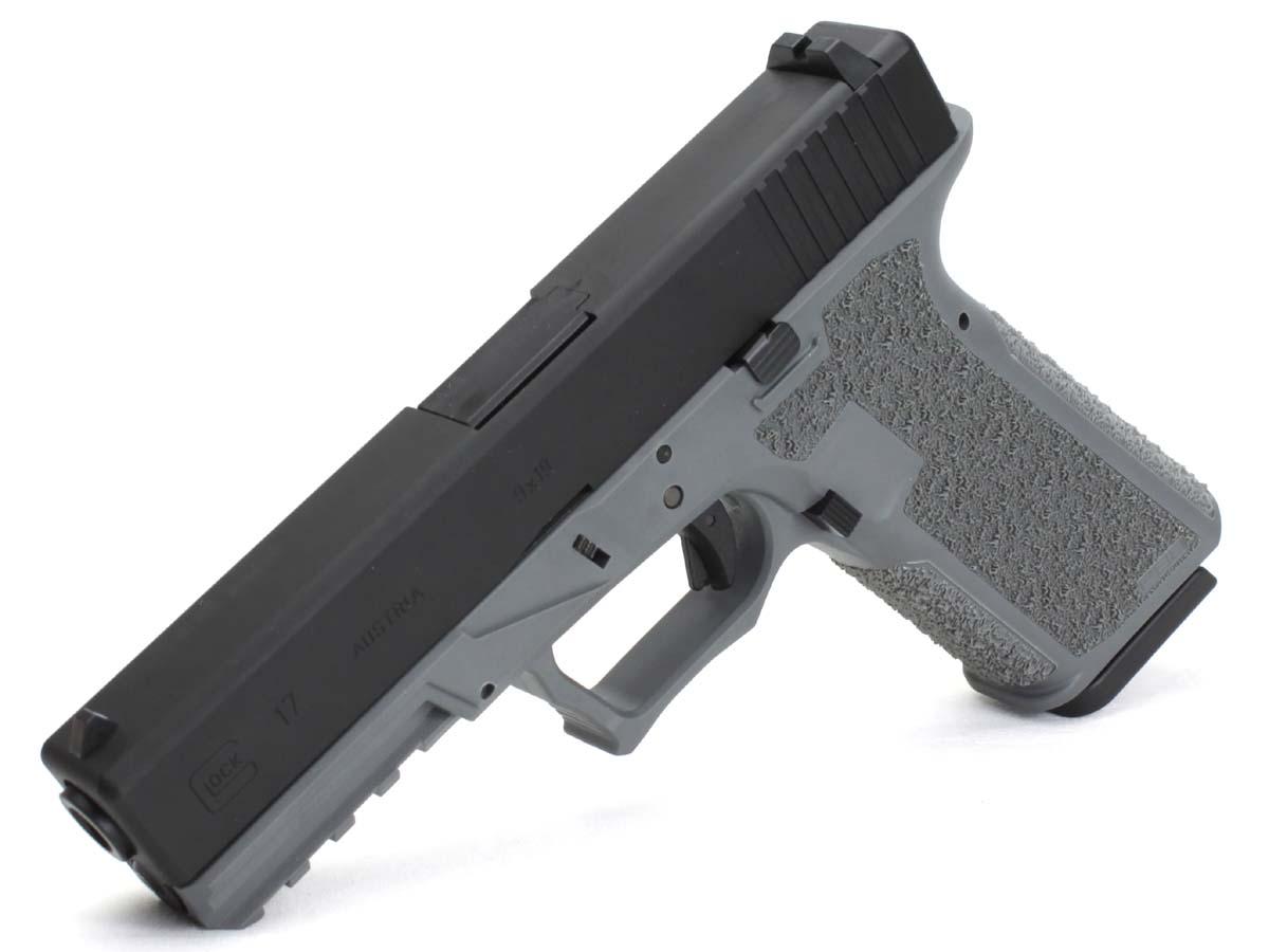 サイドアームズカスタム 東京マルイ ガスブローバックガン Glock17 JDG POLYMER80フレームカスタム グレー