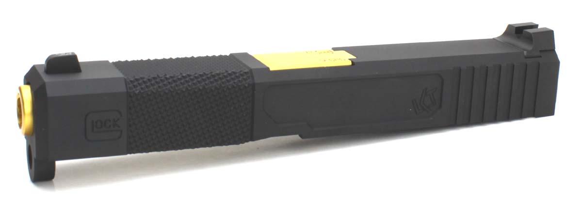 NOVA 東京マルイ Glock19専用 Loki Tctical Frankenstein Carry アルミスライド スライドグレー バレルゴールド