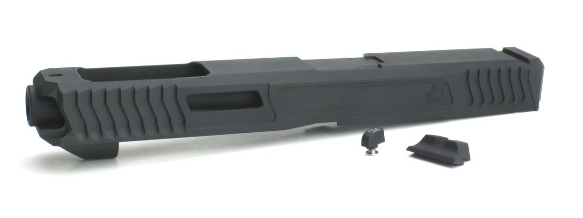 NOVA 東京マルイ Glock17/22/34対応 Loki Tactical Uncle Gaspacho G34タイプ カスタムスライドセット GRAY
