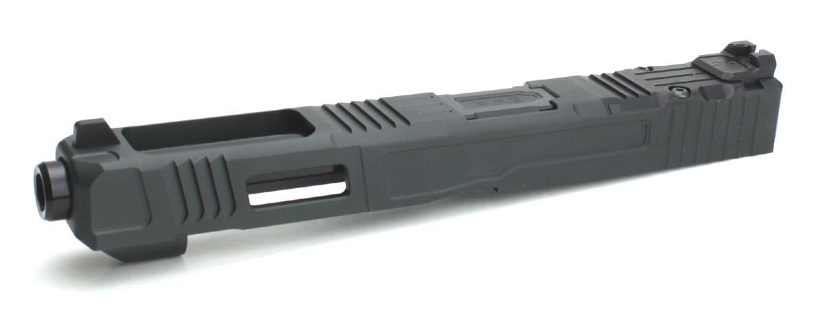 NOVA 東京マルイ Glock17/22/34対応 Fowler Industries FI Mk3 G34タイプ カスタムスライドセットRMRモデル ブラック