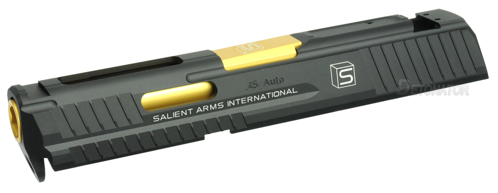 DETONATOR 東京マルイ HK45用 Salient Armsカスタムスライド-ブラック