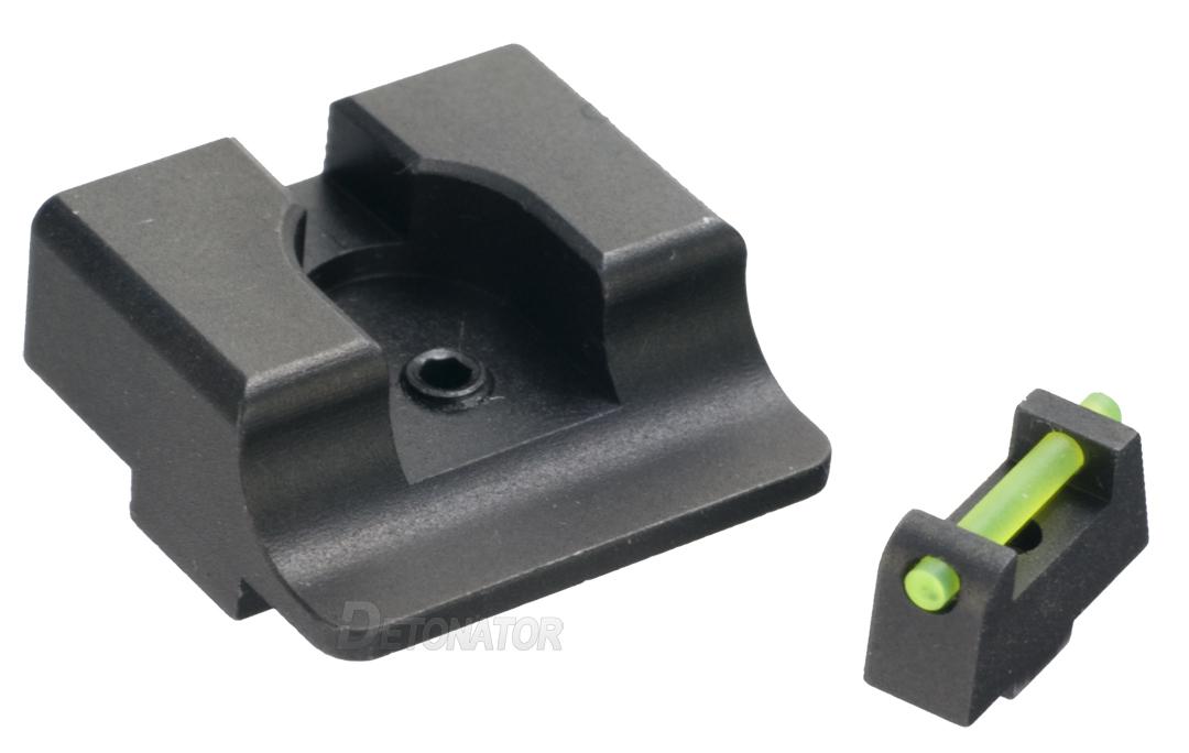 DETONATOR 東京マルイ Glockシリーズ対応 TTI Ultimate Fiber Opticタイプ スティール フロント/リアサイトセット