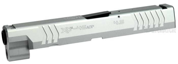 DETONATOR 東京マルイ XDM用 SFA XD(M)4.5 45ACP刻印仕様 カスタムスライド-シルバー