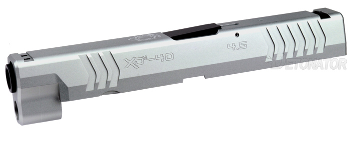 DETONATOR 東京マルイ XDM用 SFA XD(M)4.5 40SW刻印仕様 カスタムスライド-シルバー