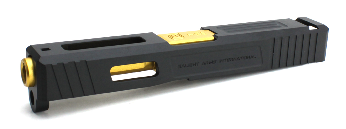 DETONATOR 東京マルイ Glock19専用 Salient Arms Tier1 Glock19カスタムスライド Black