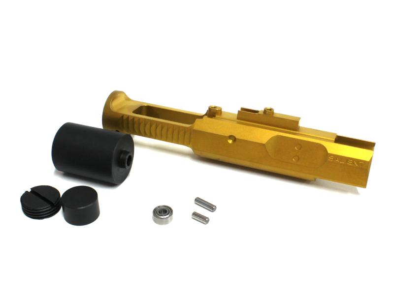 GunsModify 東京マルイM4A1 MWS用 ステンレスヘビーウエイトボルトキャリア SAIタイプ ゴールド