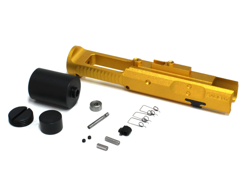 GunsModify 東京マルイM4A1 MWS用 アルミ削り出し ゼロボルトキャリア SAIタイプ ゴールド