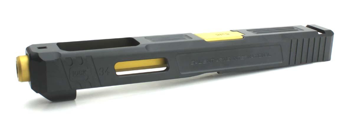 GunsModify 東京マルイ Glock17シリーズ対応 SalientArms Glock34 スティールバーストバレル/ゴールドモデル
