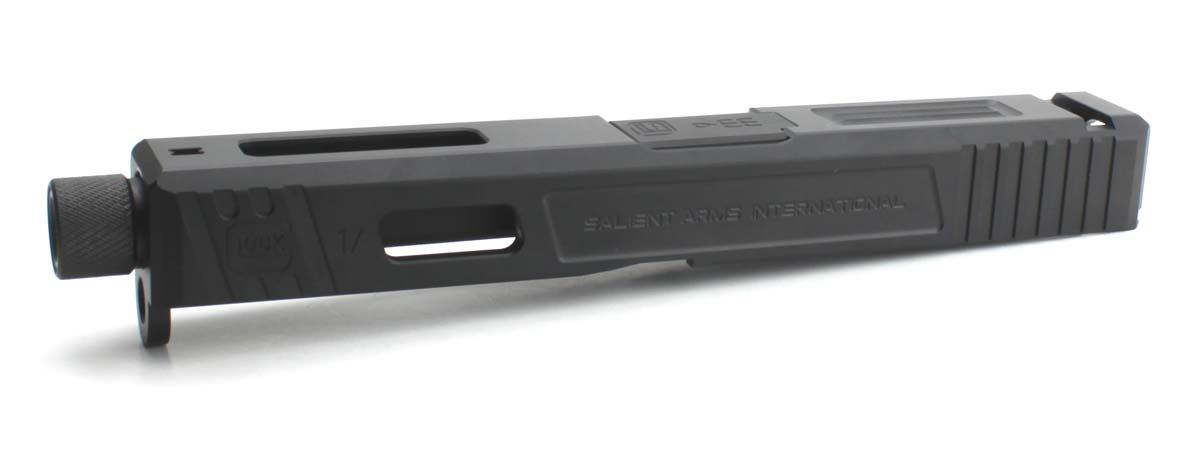 GunsModify 東京マルイ Glock17シリーズ対応 SalientArms Glock17 KKMステンレスボックスフルートバレル/ブラックモデル M14正ネジ仕様