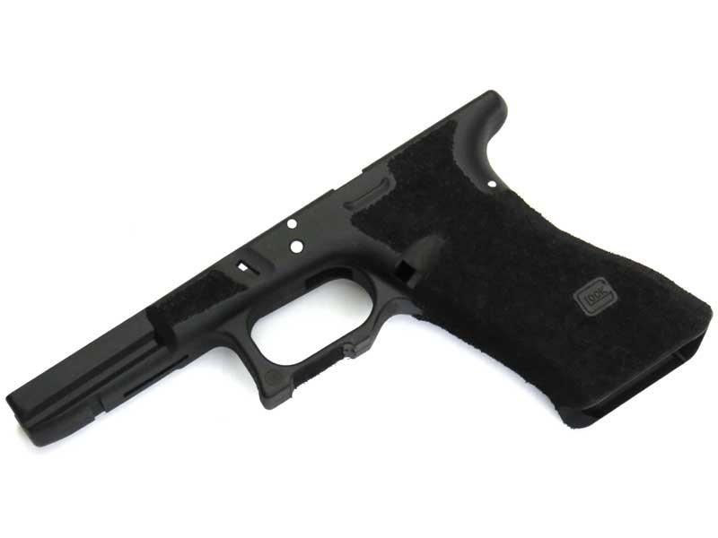 SIDEARMS 東京マルイ Glock17,18C用 サリエントアームズスタイル ステッピングフレーム フィンガーチャネル無し ブラック