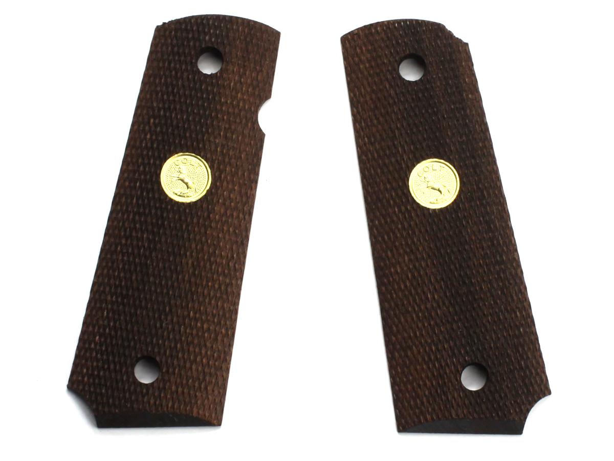 MULE 各社M1911系対応 フルチェッカーメダル入りグリップ グリップウェイト付属タイプ