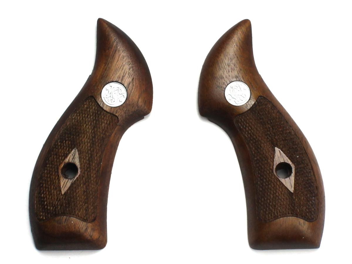 Mule タナカ S&W センチニアル ウォルナットチェッカーグリップ ウェイト付き