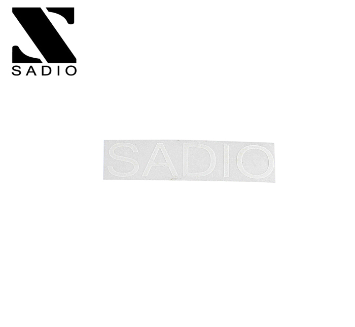 SADIO サディオ ステッカー カッティング STICKER #13 ロゴ クリアステッカー W55mm ※ラッピング ※ オーバーのアイテム取扱☆ ピスト H15mm シール :WHITE 自転車 メール便対応可 x