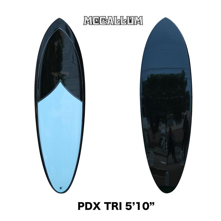 【サーフボード送料別途】MCCALLUM SURFBOARDS UPSIDE DOWN LABEL マッカラム サーフボード アップサイド ダウン レーベル PDX TRI : 5'10