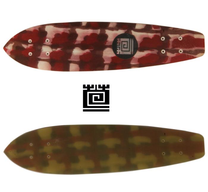KAYA カヤ スケートボード 手染め デッキ : SOME RED【送料無料】