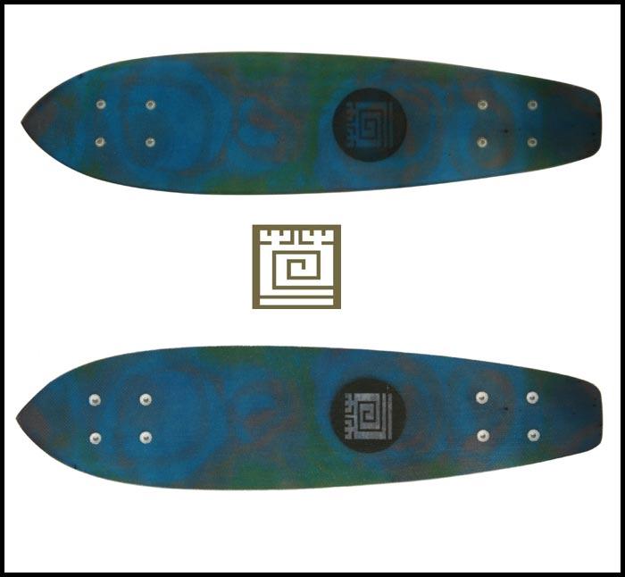 KAYA カヤ スケートボード 手染め デッキ SIDEWALK SURF IN : BLUE【送料無料】