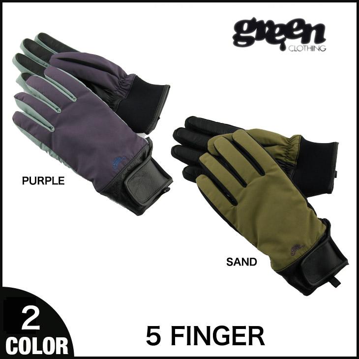 GREEN CLOTHING 14-15 グローブ 5FINGER ファイブフィンガー 手袋 5本指 グリーンクロージング