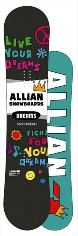 ALLIAN SNOWBOARDS DREAMS 2018/2019アライアン スノーボード ドリームス 125,135送料無料!18-19ベースワックス+全温度対応滑走WAXサービス! CAPITA工場製造 子供用最高級スノーボードmade in austria