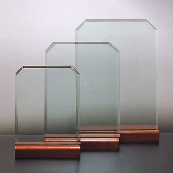 重厚な厚みのガラスプレート『大』210x300mm