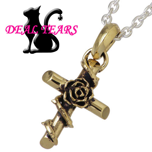 ディールティアーズ DEAL TEARS ネックレス レディース ローズ シルバー ジュエリー ワイヤード クロス K10 薔薇 フラワー 十字架 925 スターリングシルバー 399104CL60