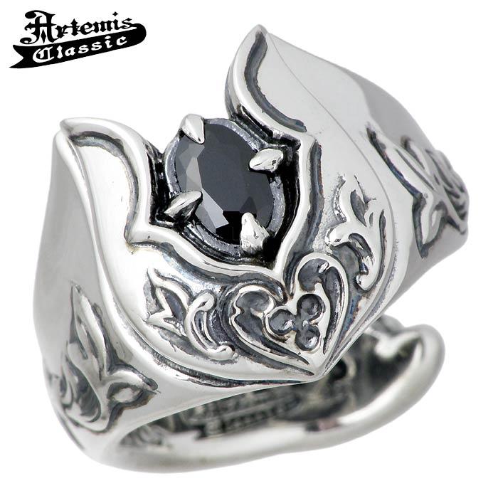 Artemis Classic【アルテミスクラシック】 リング 指輪 メンズ ホースシュー シルバー 11~25号 ブラックキュービック 馬蹄 ACR0250