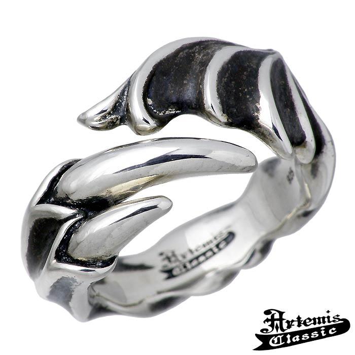 【アルテミスクラシック】Artemis Classic サタンズ クロー シルバー ジュエリー リング 指輪 メンズ 13~23号 翼 爪 ACR0255