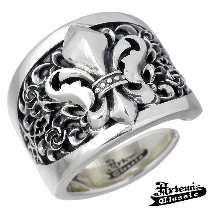 【アルテミスクラシック】Artemis Classic フレアー デリス シルバー ジュエリー リング 指輪 メンズ 13~23号 唐草 バラ 薔薇 ACR0257
