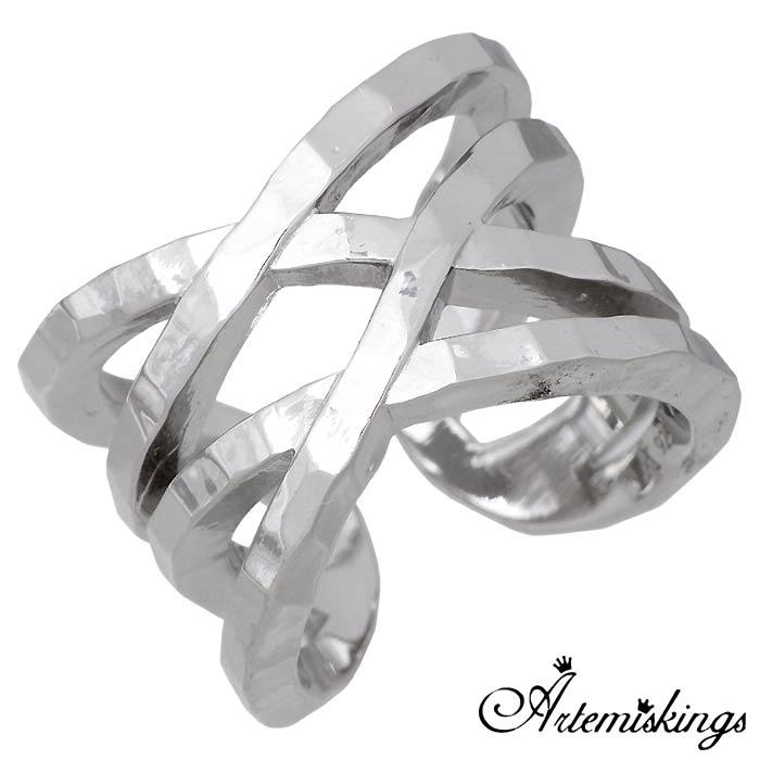 【アルテミスキングス】Artemis Kings x Elenore エレノア ダブルネーム ラップ シルバー ジュエリー リング 指輪 15号~23号 AKELR0004L