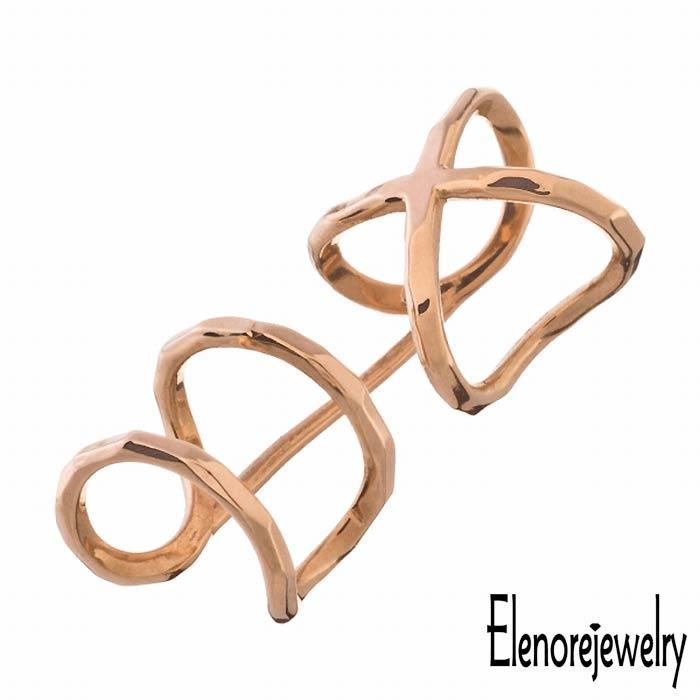 【エレノアジュエリー】Elenore Jewelry 10K ゴールド イヤーカフ レディース X2 イヤカフ 片耳用 1個売り ELE0001