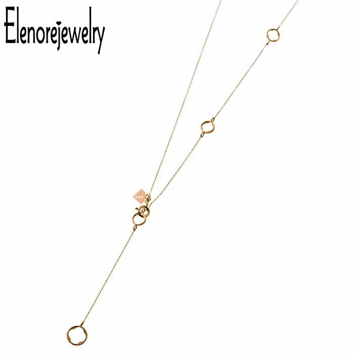 【エレノアジュエリー】Elenore Jewelry 10K ゴールド ネックレス レディース サークル Y ELP0004