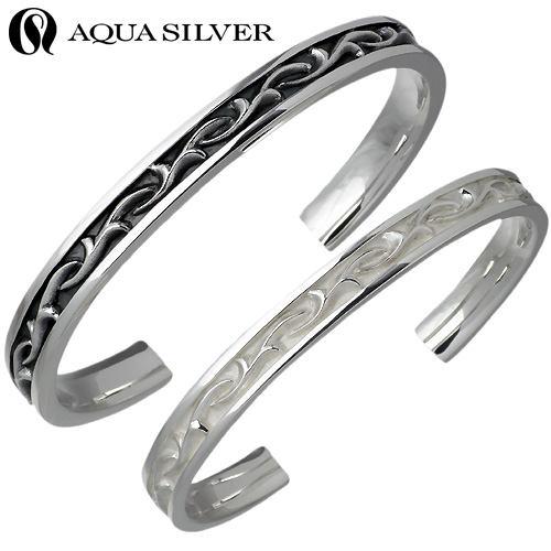 【アクアシルバー】AQUA SILVER バングル ペアー シルバー ジュエリー ブレスレット アラベスク 925 スターリングシルバー AS-BG036F-037-P